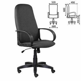 """Кресло офисное BRABIX """"Praktik EX-279"""", ткань/экокожа, серое, 532018"""