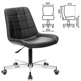 """Кресло офисное BRABIX """"Deco MG-316"""", без подлокотников, экокожа, черное, 532080."""