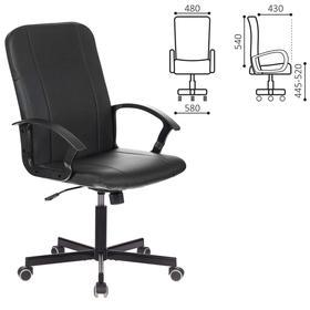 """Кресло офисное BRABIX """"Simple EX-521"""", экокожа, черное, 532103"""