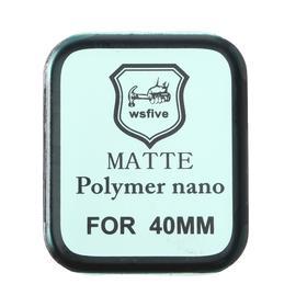 Защитное стекло Polymer nano, для Apple Watch 40 мм, матовое, чёрное Ош