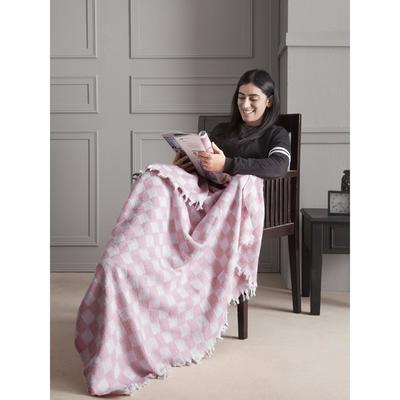 Плед Isabella, размер 130x150 см, цвет розовый