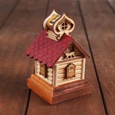 Конструктор деревянный «Деревенька.Избушка» - Фото 1