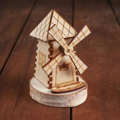 Конструктор деревянный «Деревенька.Мельница» - Фото 1