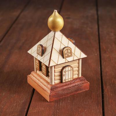 Конструктор деревянный «Деревенька.Часовня большая» - Фото 1