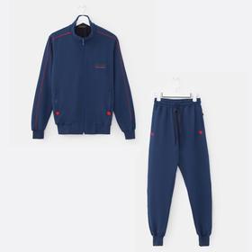 Костюм мужской (толстовка, брюки) цвет индиго, размер 46 Ош