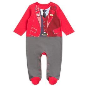 Комбинезон для мальчиков, рост 62 см, цвет красный