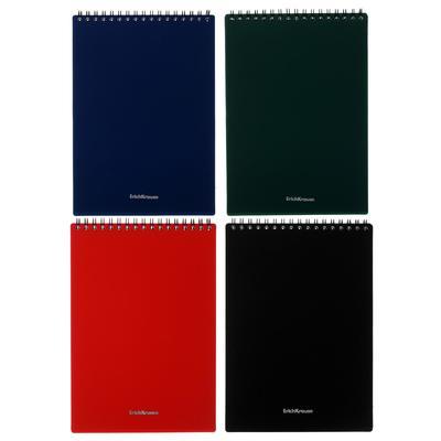 Блокнот А5, 60 листов в клетку, на гребне Classic, пластиковая обложка, блок офсет - Фото 1