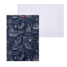 Тетрадь А4, 48 листов в клетку ErichKrause Old Map, пластиковая обложка, блок офсет