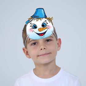 Маска из картона «Снеговик», мальчик