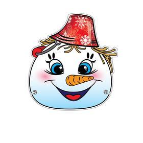 Маска из картона «Снеговик», девочка