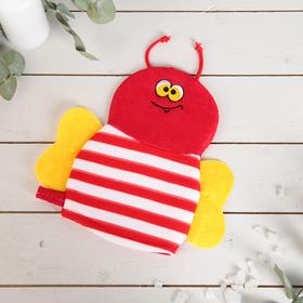 Мочалка варежка детская, 'Пчелка', цвета МИКС Ош