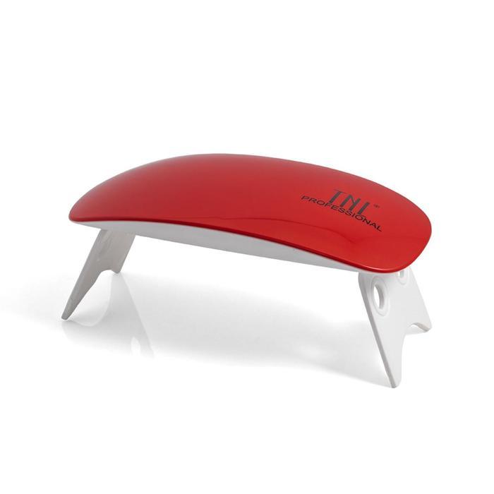Лампа для гель-лака TNL 6 W mini , UV/LED, 6 Вт, таймер 45/50 с, кораллово-красная