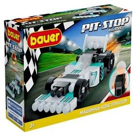 Конструктор «Гоночная машина. Pit Stop», цвет: черный, серый, бирюзовый