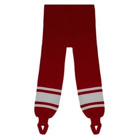 Рейтузы хоккейные, размер 50, цвет красный/белый Ош