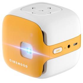 Проектор CINEMOOD (CNMD0016LE-3M), 16:9, 640x360, 32Гб, BT, Wi-Fi, бело-жёлтый Ош