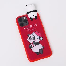Чехол для телефона iPhone 11 pro «Радостный панда», с персонажем, 7,14 х 14,4 см
