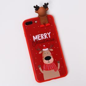 Чехол для телефона iPhone 7,8 plus «Счастливого рождества», с персонажем, 7,7 х 15,8 см