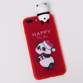 Чехол для телефона iPhone 7,8 plus «Радостный панда», с персонажем, 7,7 х 15,8 см