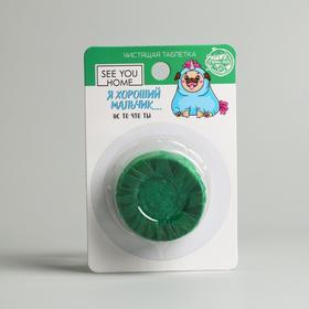 Чистящая таблетка «Хороший мальчик» 1шт, зелёный Ош
