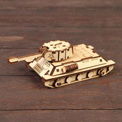 Деревянный конструктор «Танк Т-34» - Фото 1