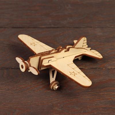 Деревянный конструктор «Военный самолёт И-16» - Фото 1