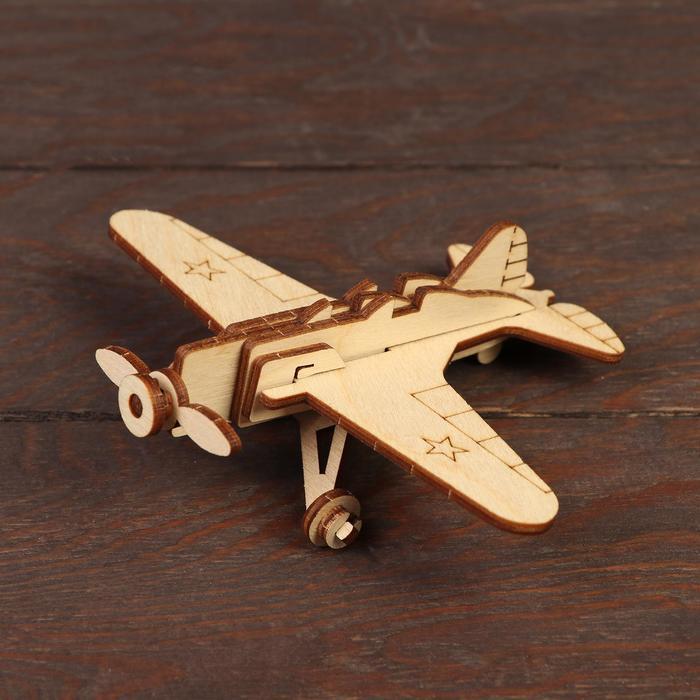Деревянный конструктор Военный самолёт И-16