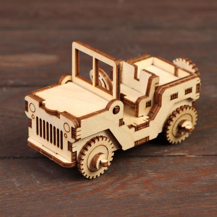 Деревянный конструктор Военный джип