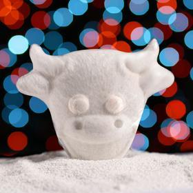 Бурлящая соль для ванны «Улыбающийся бычок», с ароматом миндаля
