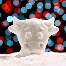 Бурлящая соль для ванны «Бычок с ромашкой», с ароматом миндаля