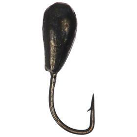 Мормышка «Капля» с отверстием, BN, d=3, 5 шт.