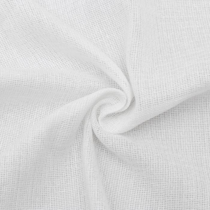 Вафельное полотно, ширина 40 см (±5 см), длина 50 м, 110г/м2, 100% хлопок, цвет белый