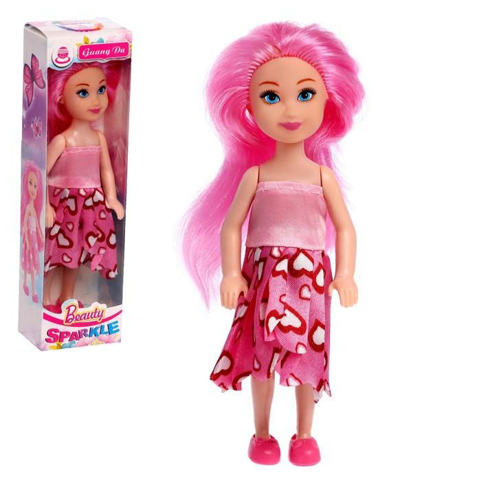 Кукла модная Даша в платье, МИКС