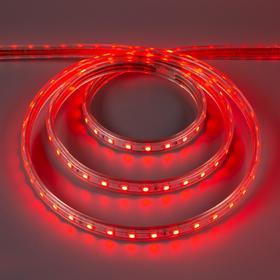 Светодиодная лента Ecola, 60 Led/м, 14.4 Вт, 220 В, IP68, 14х7 мм, 100 м, красный
