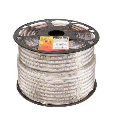 Светодиодная лента Ecola, 60 Led/м, 14.4 Вт, 220 В, 2800 К, IP68, 14х7 мм, 100 м
