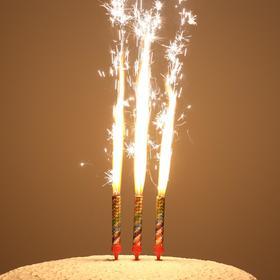 """Набор тортовых свечей """"Праздничные фонтаны"""" шары, 12,5 см (3 шт)"""