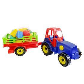 Трактор с прицепом, с конструктором