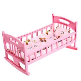 Кроватка для кукол с постелькой
