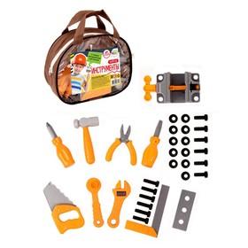 Набор инструментов строительных, в сумочке