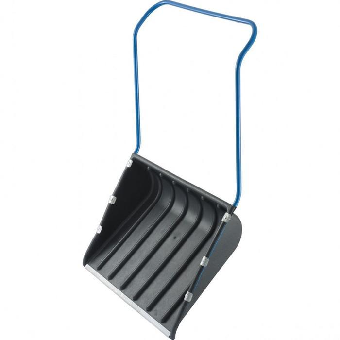 Движок пластиковый, размер ковша 55,5 × 73,5 см, металлическая планка, стальная рукоятка, «Сибртех»