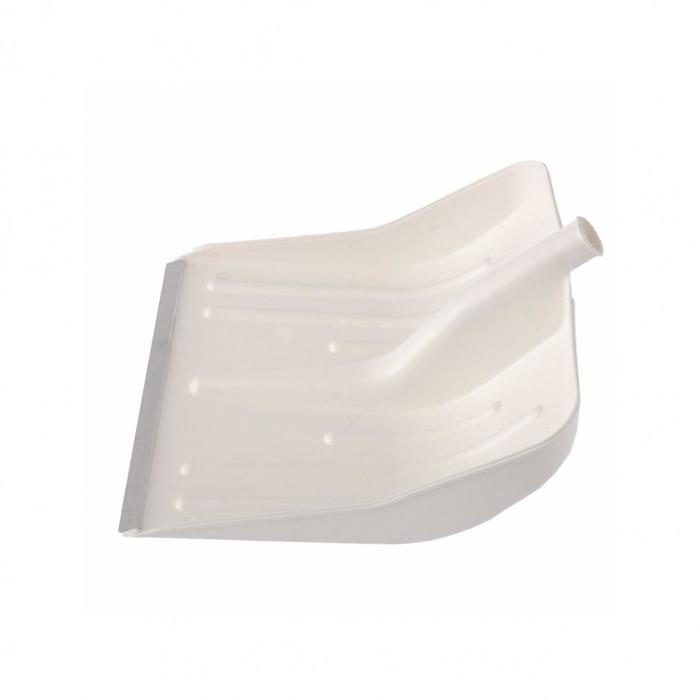 Ковш лопаты пластиковый, 420 × 425 мм, с планкой, белый, «Сибртех»