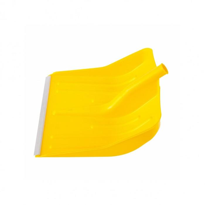 Ковш лопаты пластиковый, 400 × 420 мм, с планкой, жёлтый, «Сибртех»