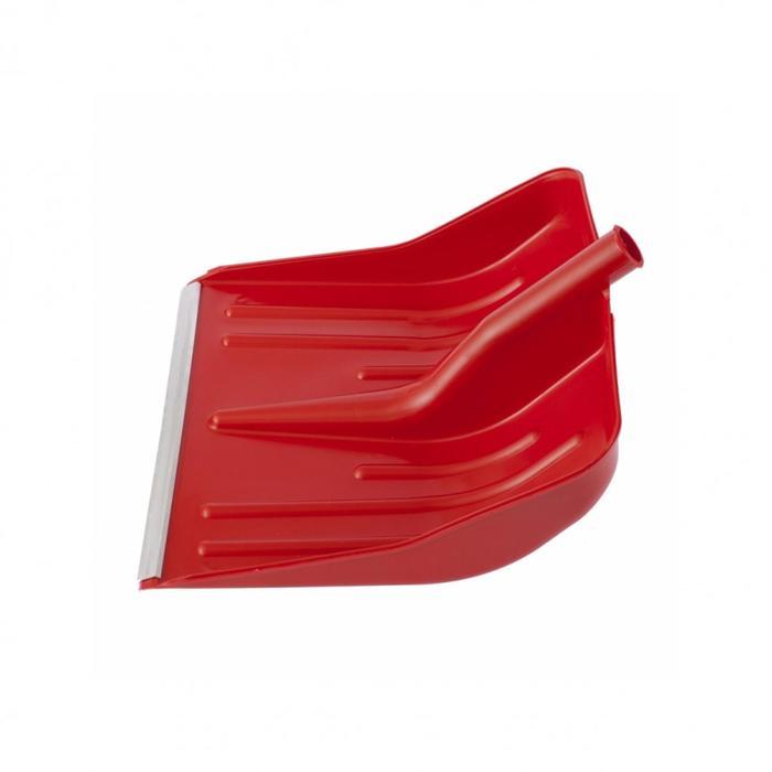 Ковш лопаты пластиковый, 400 × 420 мм, с планкой, красный, «Сибртех»
