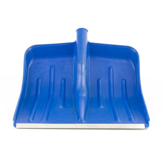 Ковш лопаты пластиковый, 420 × 425 мм, с планкой, синий, «Сибртех»
