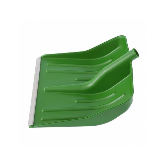 Ковш лопаты пластиковый, 420 × 425 мм, с планкой, зелёный, «Сибртех»