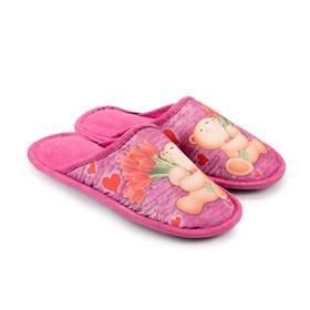 Тапочки женские, цвет розовый, размер 36 Ош