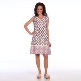 Сорочка женская, цвет шампань/бордо, размер 46