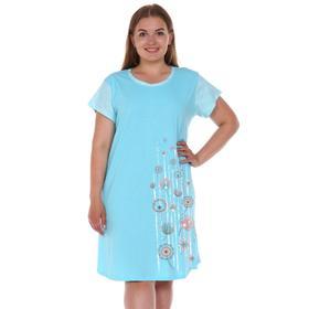 Сорочка женская, цвет голубой, размер 46