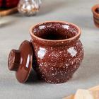 Горшочек традиционный «Мрамор коричневый», 400 мл - Фото 2