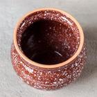 Горшочек традиционный «Мрамор коричневый», 400 мл - Фото 4