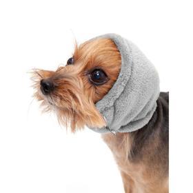 Капор Osso для собак зимний, размер S (длина 23, диаметр 26-36), серый Ош